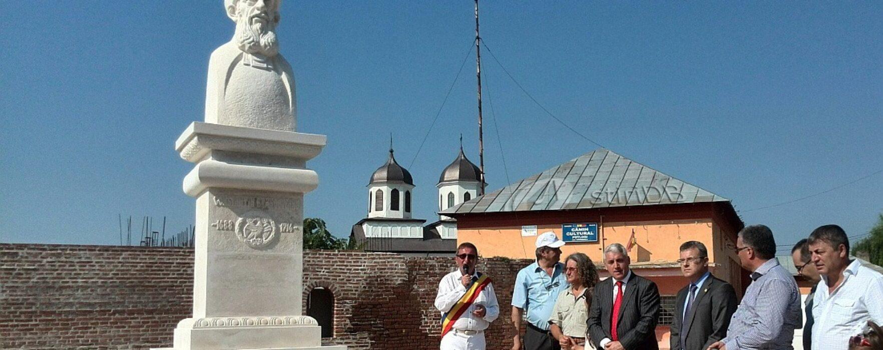 Bust al domnitorului Constantin Brâncoveanu, dezvelit de Ziua Comunei Potlogi