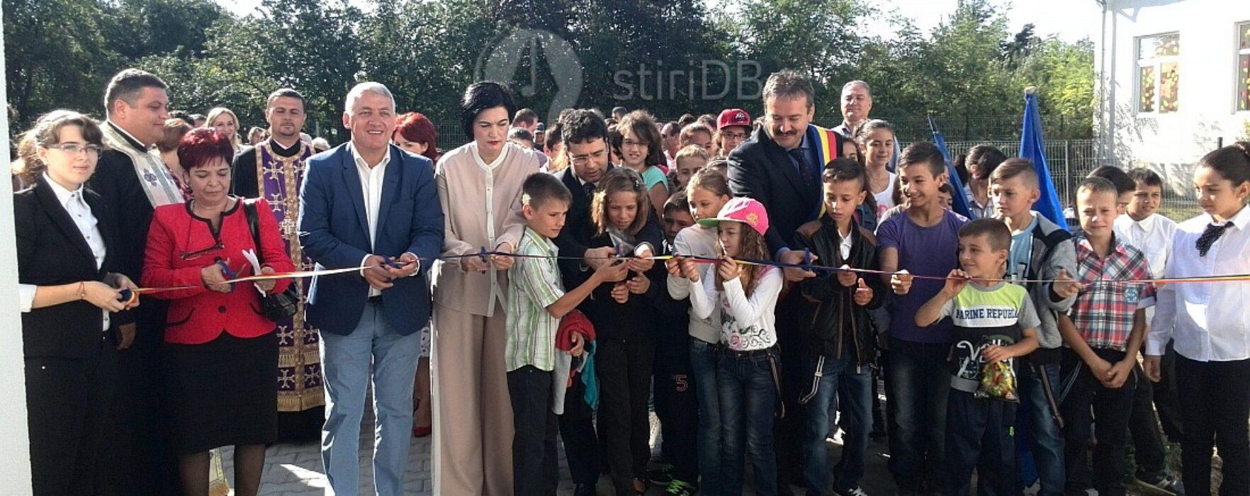 Şcoala din Conţeşti – Bălteni, inaugurată de ministrul Educaţiei, Remus Pricopie