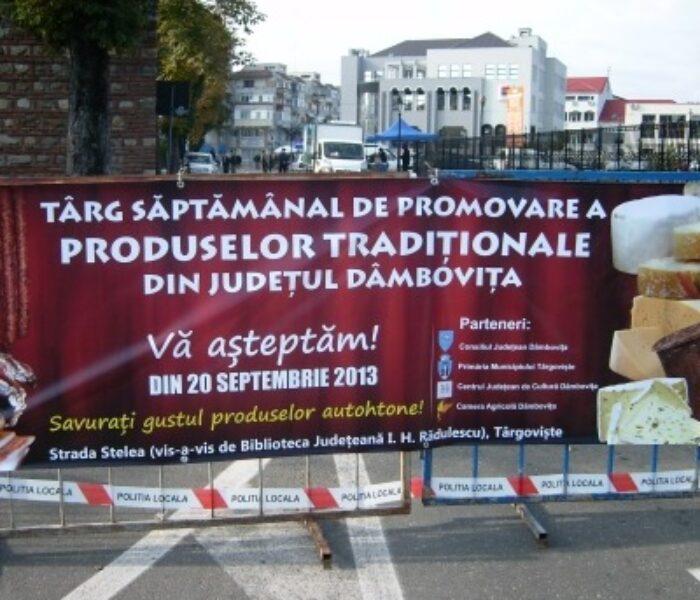 Strada Stelea din Târgovişte, închisă sâmbătă pentru târgul săptămânal de produse tradiţionale