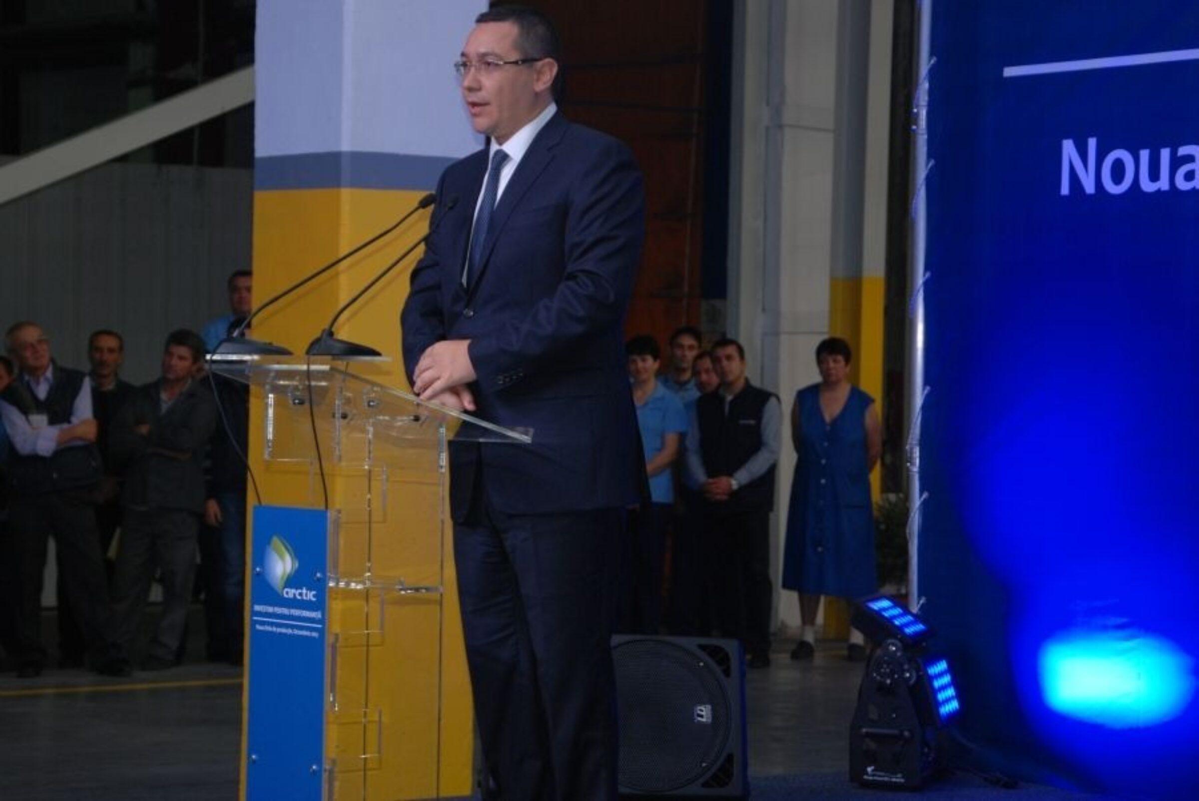 Vizita premierului Victor Ponta la Arctic Găești (foto)