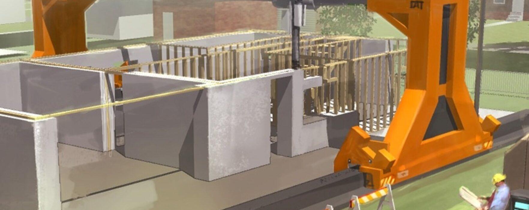 Chinezii construiesc 10 case pe zi cu o imprimantă 3D (video)