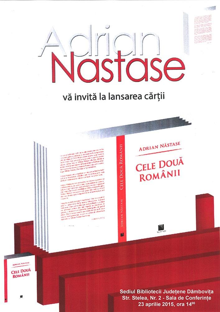 AFIS---Lansare-carte---Cele-doua-Romanii---ADRIAN-NASTASE---23-april-2015