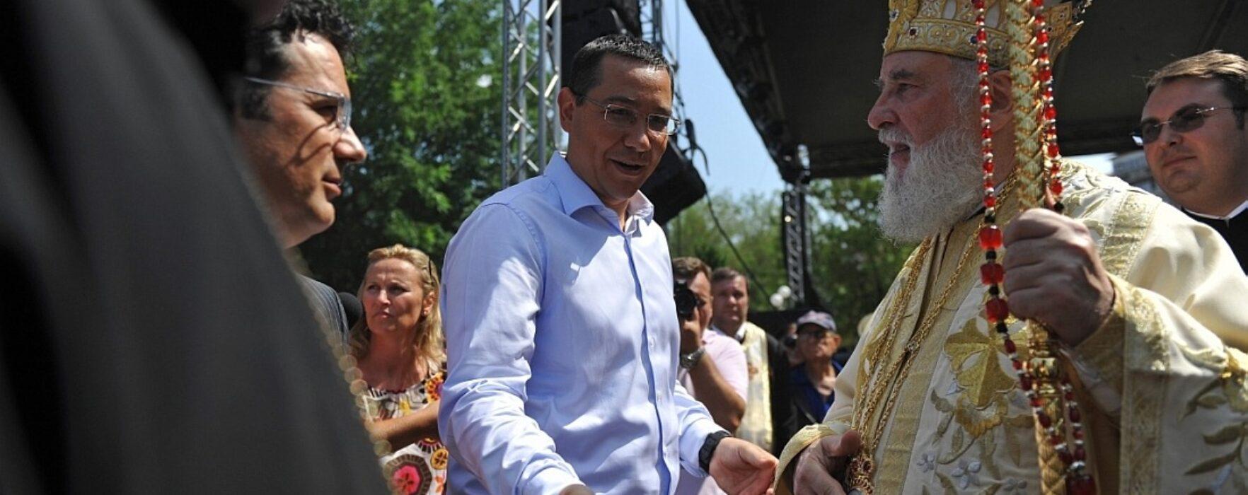 Victor Ponta: M-am bucurat să particip la sărbătorirea Sf. Nifon la Târgovişte