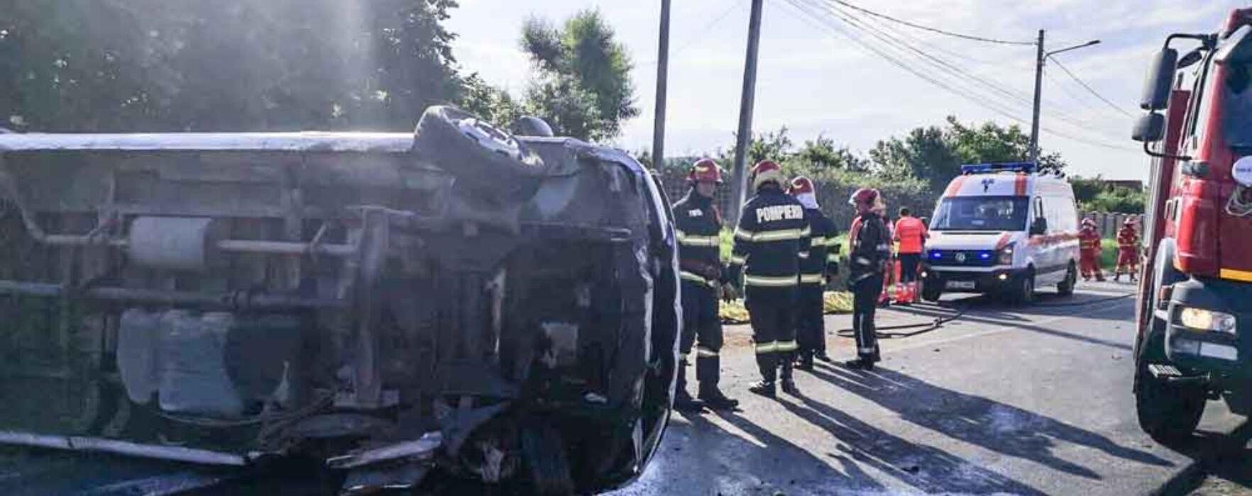 Dâmboviţa: Copiii din microbuzul răsturnat la Aninoasa purtau centura de siguranţă