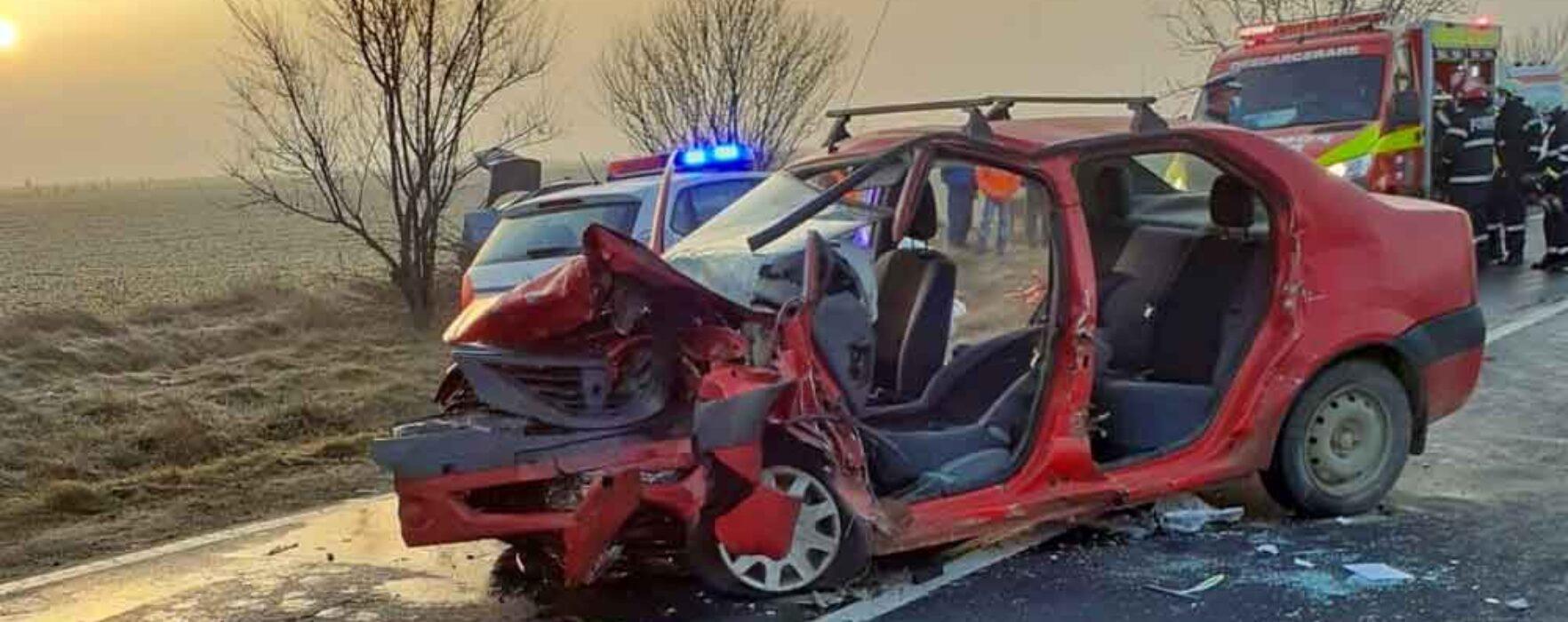 Dâmboviţa: Accident pe DN 71, un microbuz implicat şi cinci persoane rănite