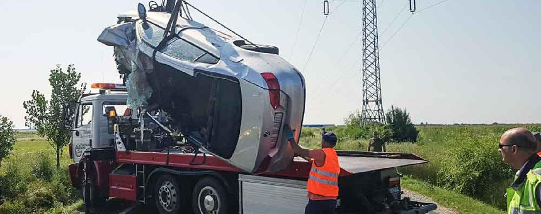 Patru persoane decedate într-un accident pe DN 71 Târgovişte-Bucureşti