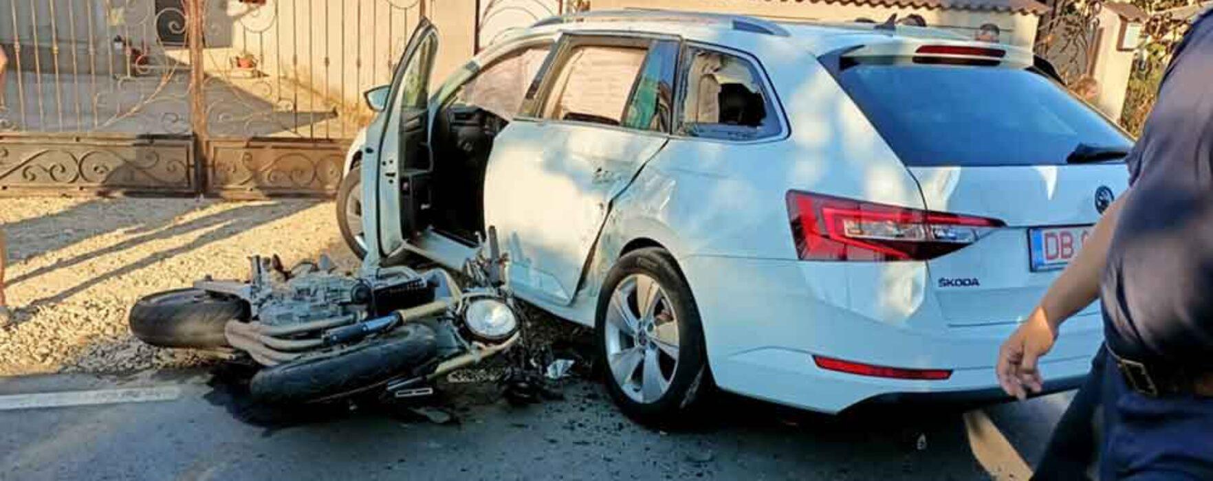 Dâmboviţa: Motocicletă implicată într-un accident la Gura Şuţii, un rănit preluat de elicopterul SMURD