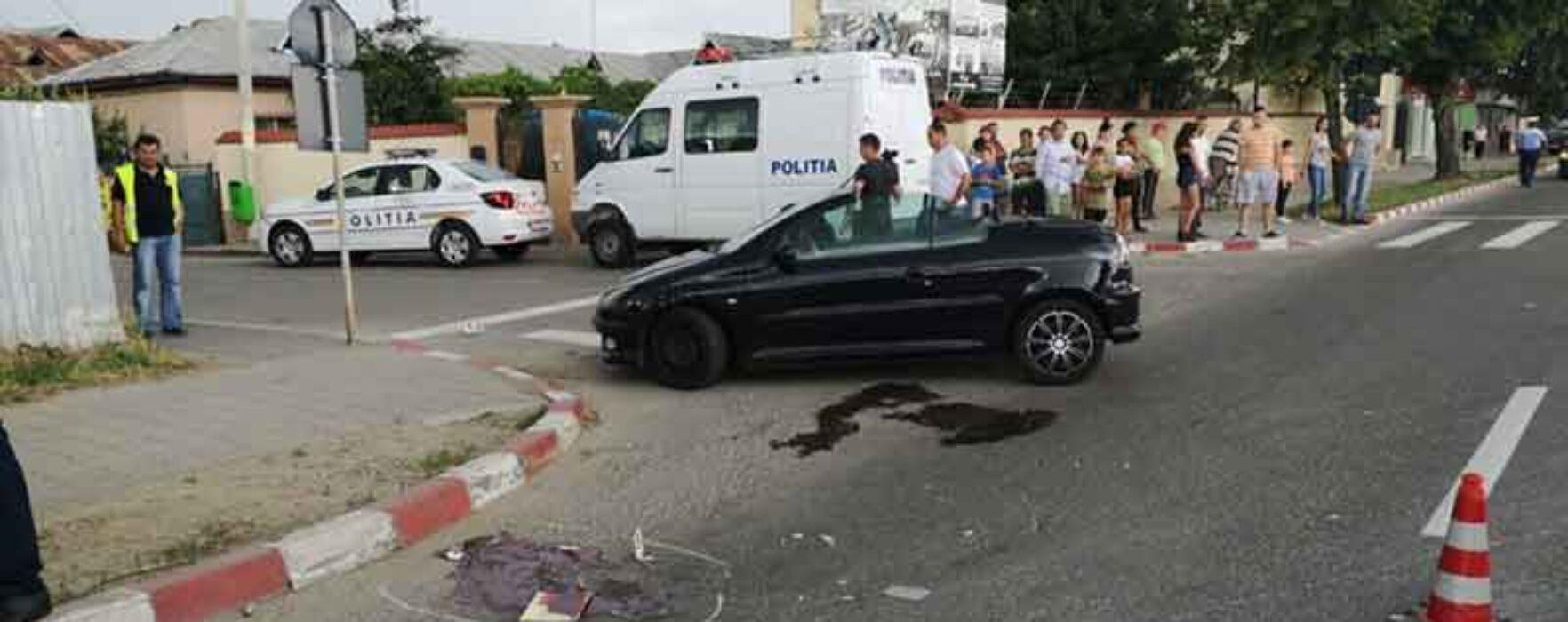 Târgovişte: Şoferiţă de 20 de ani, sub influenţa drogurilor, a accidentat mortal un bărbat pe trecerea de pietoni