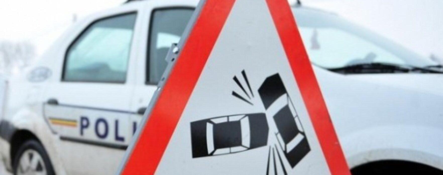 Accident în lanţ pe DN 72 Târgovişte-Ploieşti, în zona Dărmăneşti se circulă pe un singur fir de mers