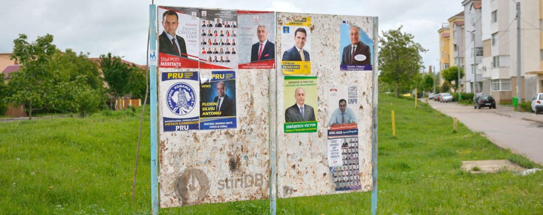 PSD Dâmboviţa anunţă că va inventaria afişele contracandidaţilor să vadă dacă respectă legea