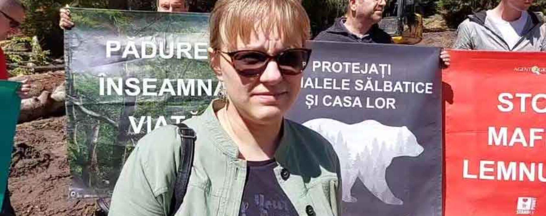 Protest în parcul natural Bucegi, Agent Green reclamă tăieri ilegale de pădure