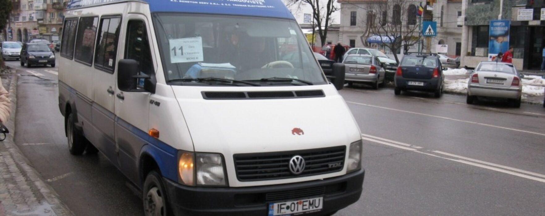 Trasee de transport public din Târgovişte, modificate din cauza vremii
