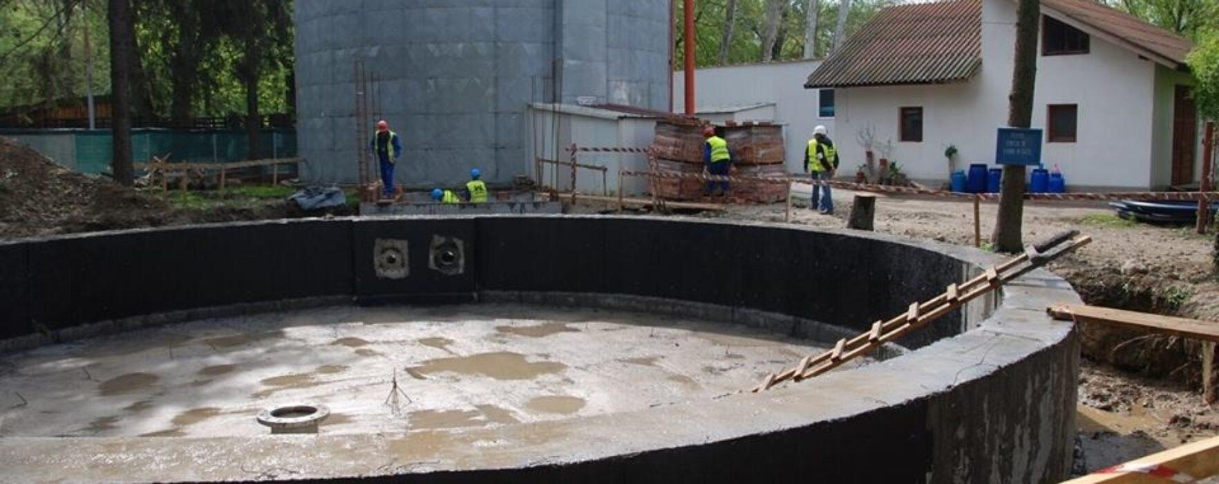 Moreni: Lucrările la staţia de epurare, blocate în urma falimentului constructorului