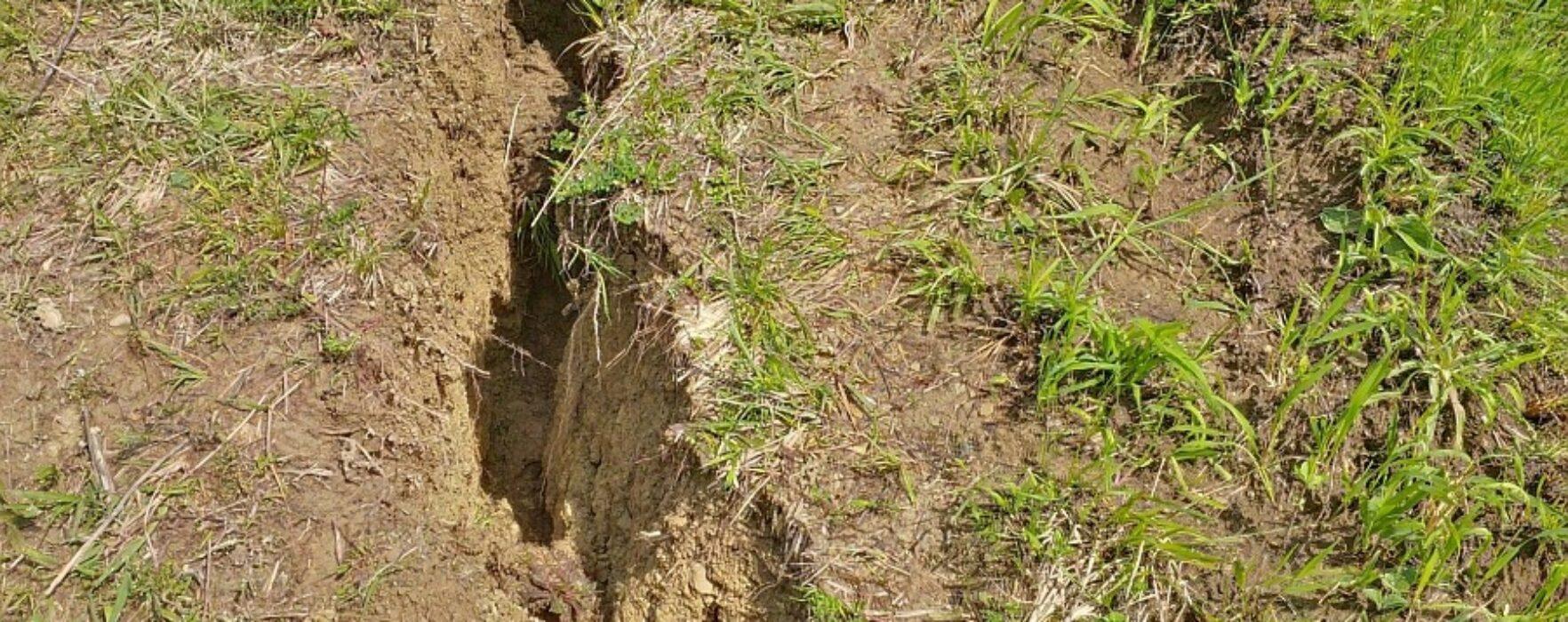 Alunecare de teren la Vişineşti, 550 de case în pericol de a rămâne izolate