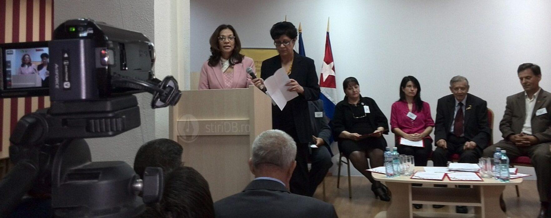 Simpozion al asociaţiilor de prietenie cu Venezuela şi Cuba, la Târgovişte, cu participarea ambasadorilor celor două ţări