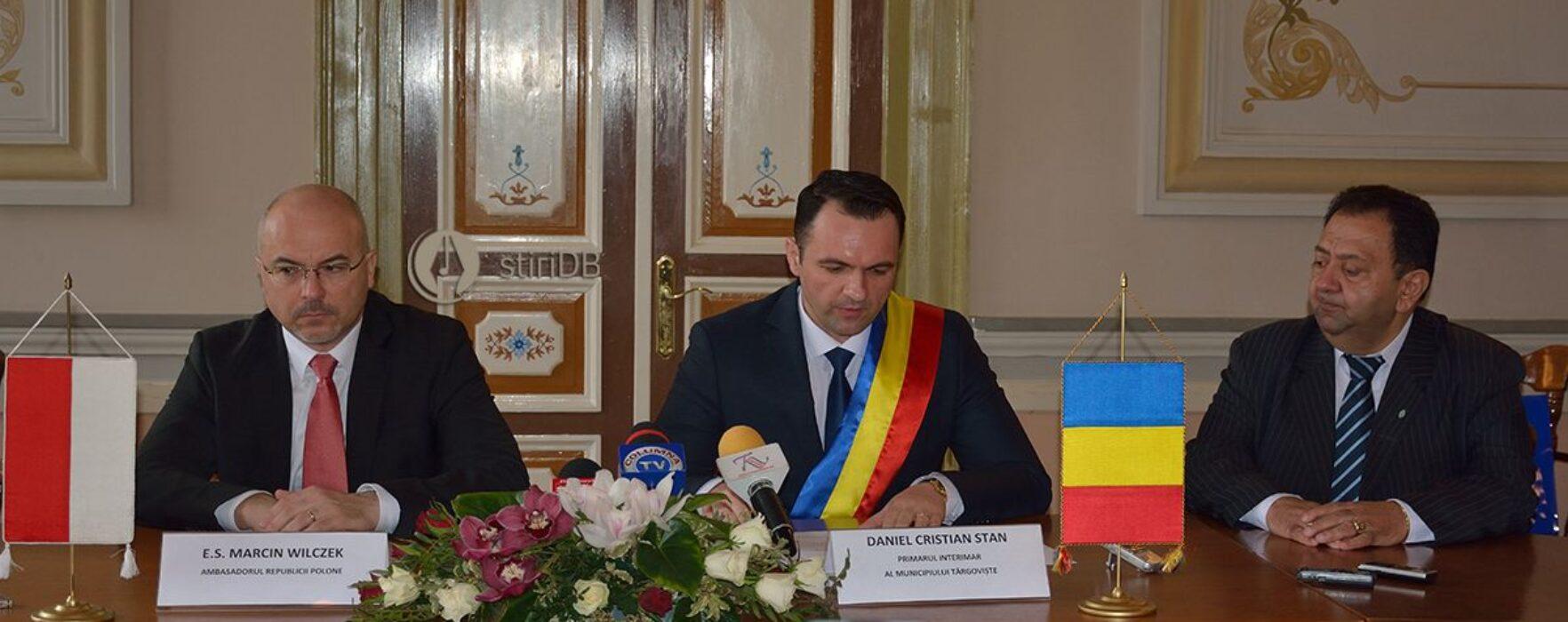 Ambasadorul Poloniei, în vizită la Târgovişte