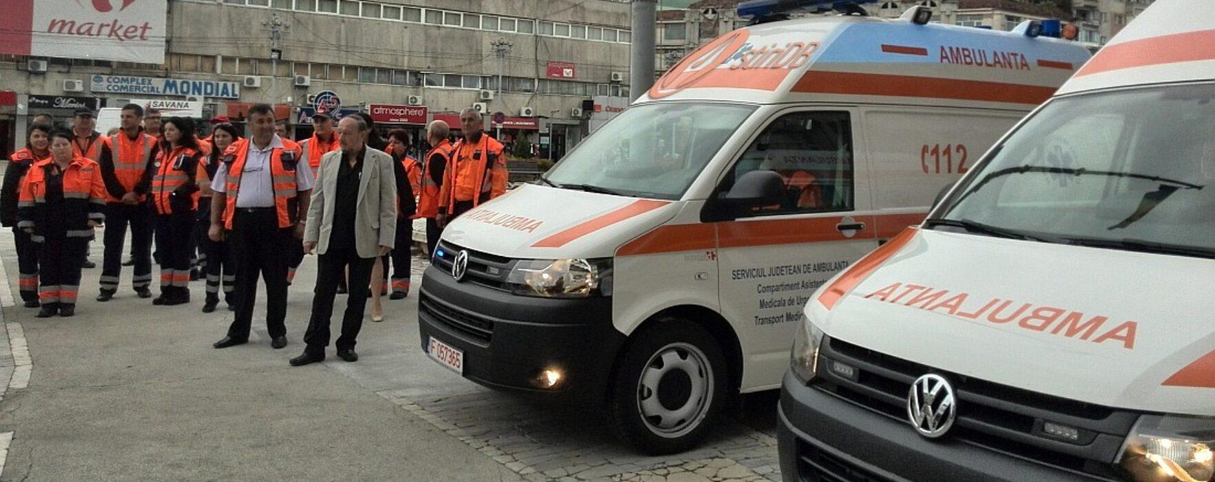 Ambulanţa Dâmboviţa, dotată cu trei autosanitare de tip B
