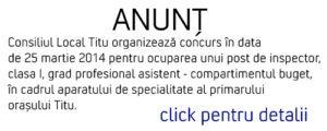 anunt titu
