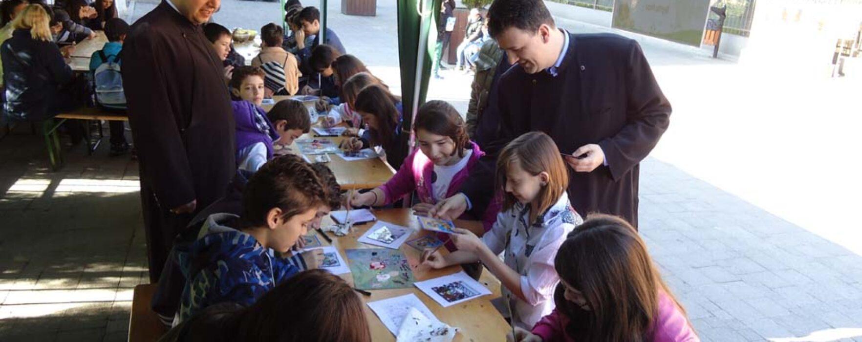 Ateliere de artă organizate de Arhiepiscopia Târgoviştei în cadrul programului Şcoala Altfel