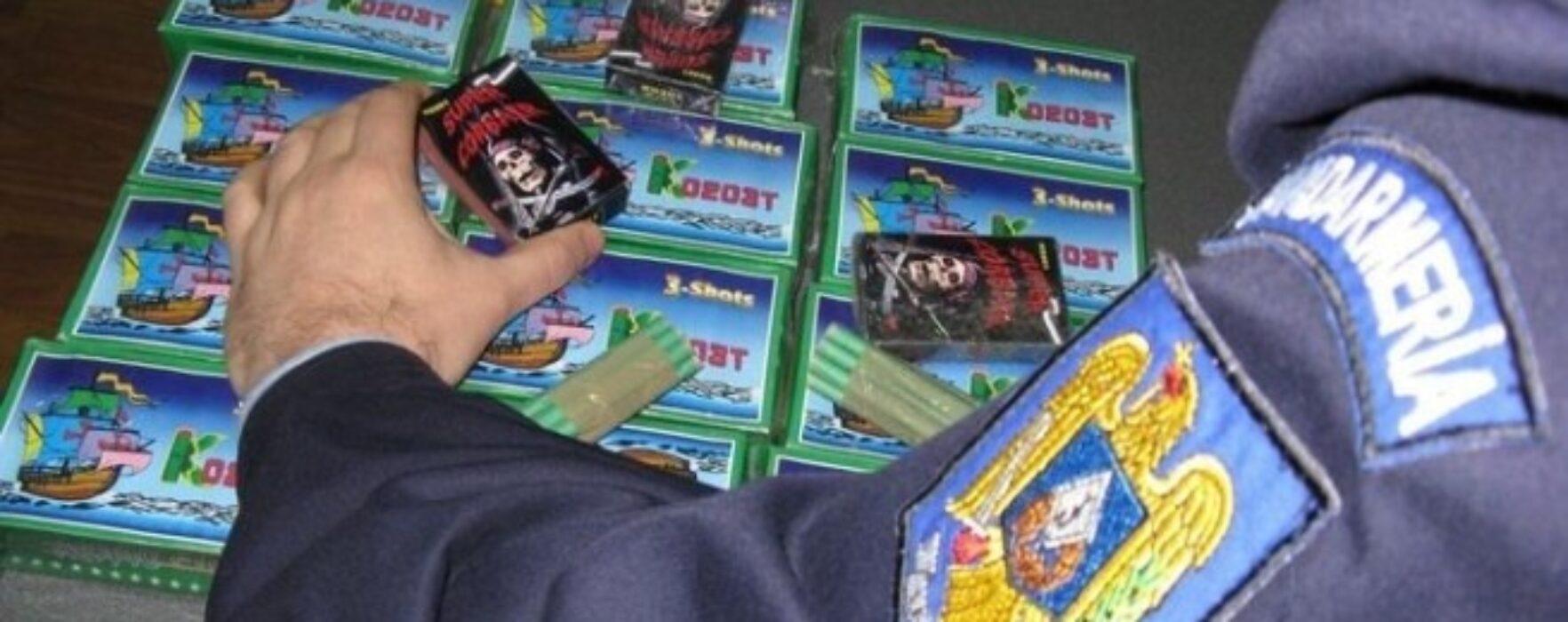 Peste 3.300 de articole pirotehnice, confiscate de poliţiştii dâmboviţeni