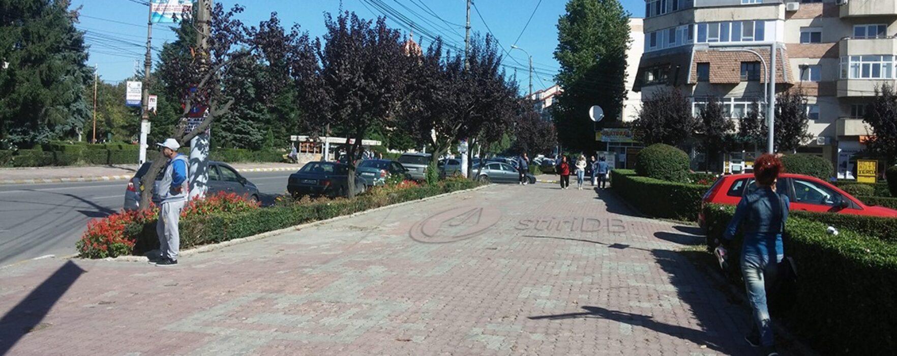 Târgovişte: Maşinile de vânzare de la intrarea pe Bulevardul Carol I, îndepărtate de pe trotuar