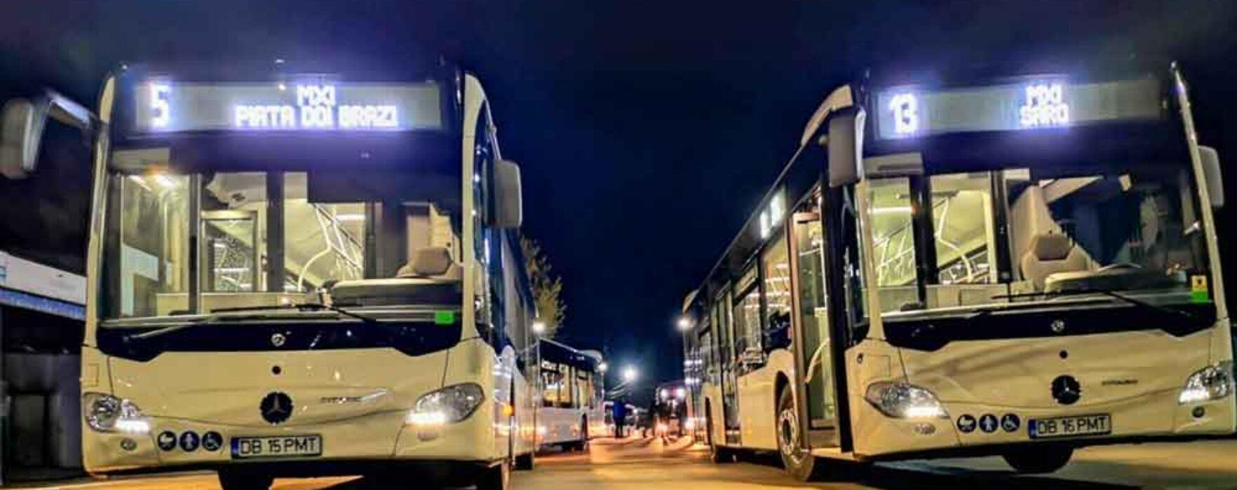 Târgovişte: Autobuzele noi Mercedes-Benz Citaro Hybrid au intrat în circulaţie