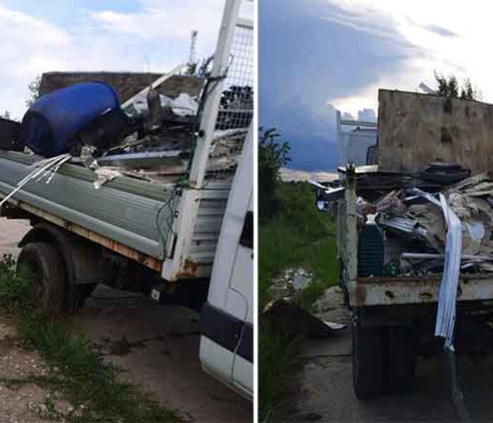 Dâmboviţa: Autoutilitară confiscată de Garda de Mediu; transporta ilegal deşeuri pe care intenţiona să le arunce pe un teren viran