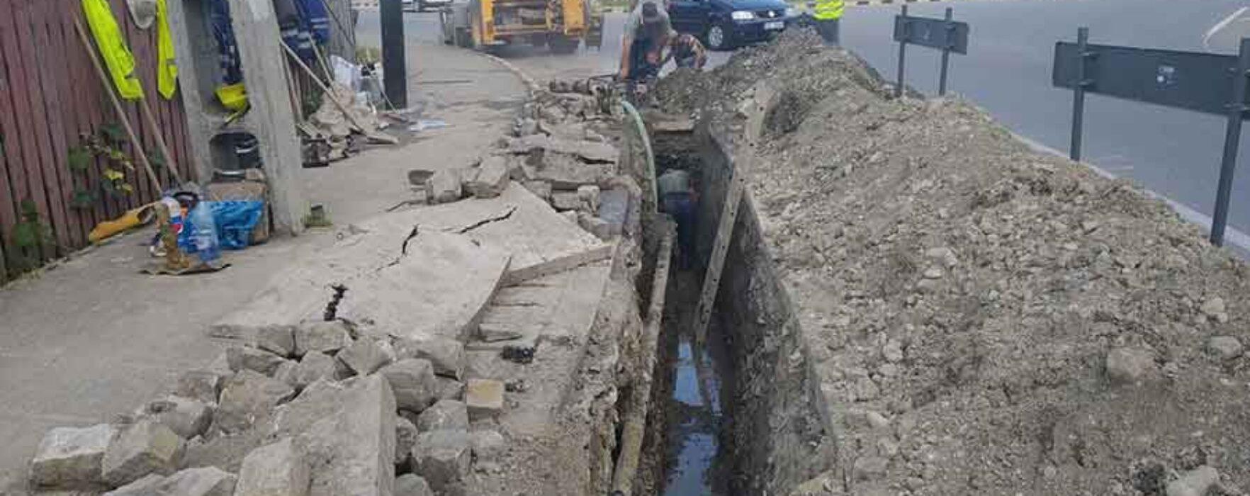 CATD: Avarie la reţeaua de apă din Moreni, sunt afectate mai multe străzi