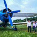 Târgovişte: A început acţiunea de combatere a insectelor prin pulverizare aeriană (6 iulie 2021)