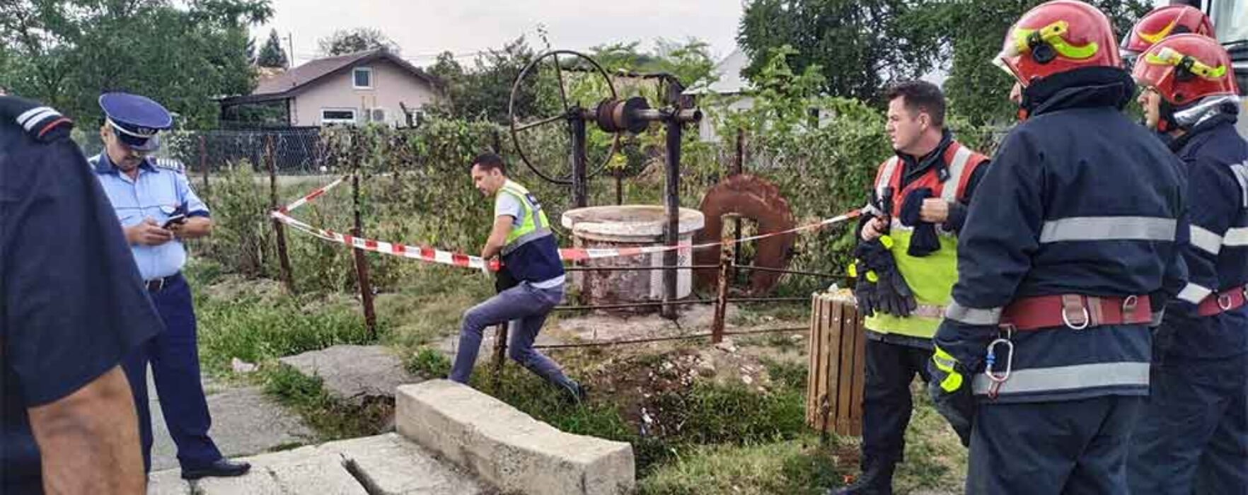Dâmboviţa: Doi bărbaţi au căzut într-un puţ pe care încercau să îl cureţe şi au murit