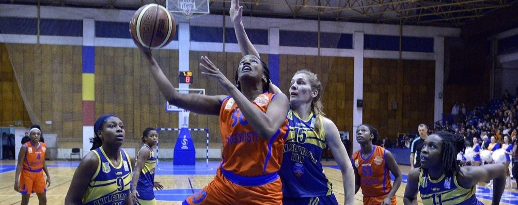 CSM Târgovişte a câştigat dramatic primul meci al finalei la baschet feminin cu ICIM Arad