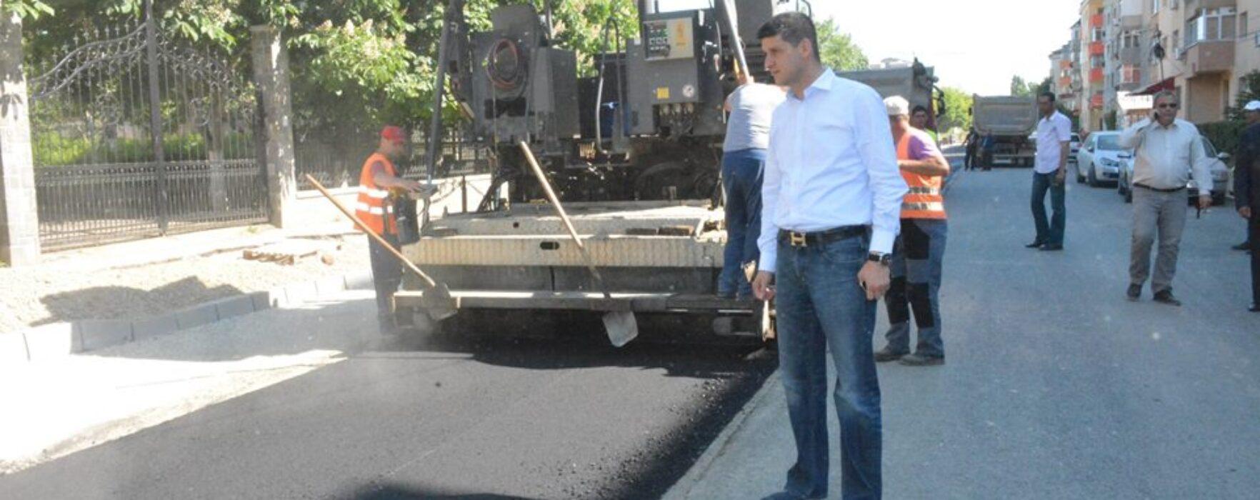 Primarul Târgoviştei, Gabriel Boriga, pe teren la lucrările PIDU B