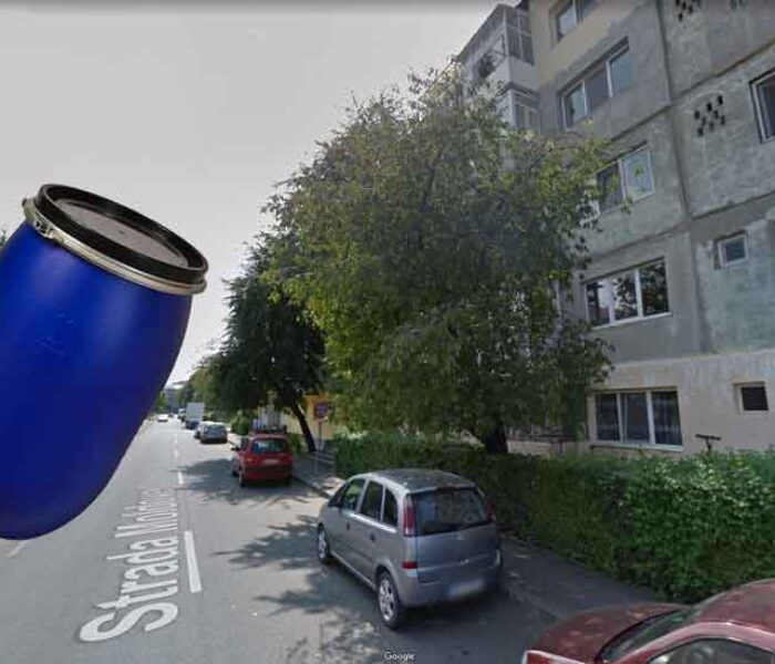 Târgovişte, micro 6: Bărbat lăsat inconştient de un butoi aruncat de la etajul 4