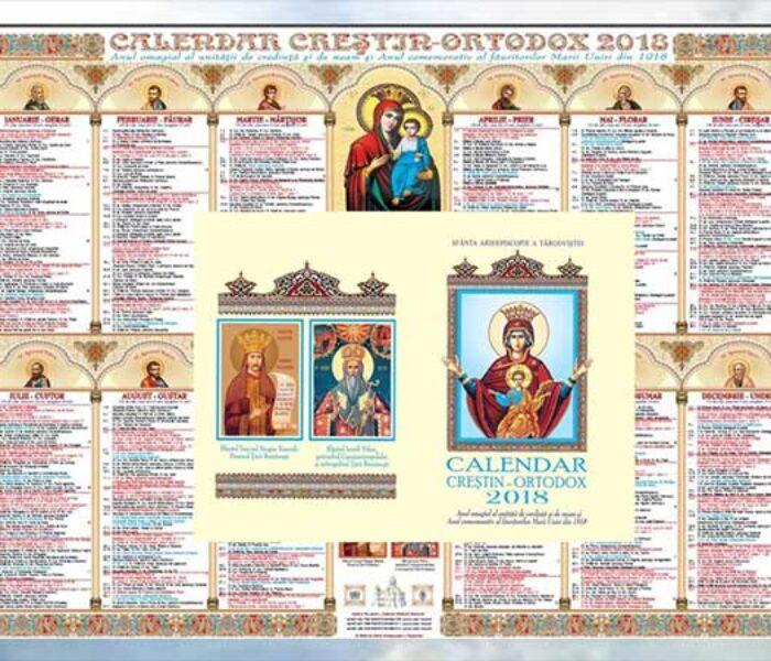 Arhiepiscopia Târgovişte: Au apărut calendarele bisericeşti 2018