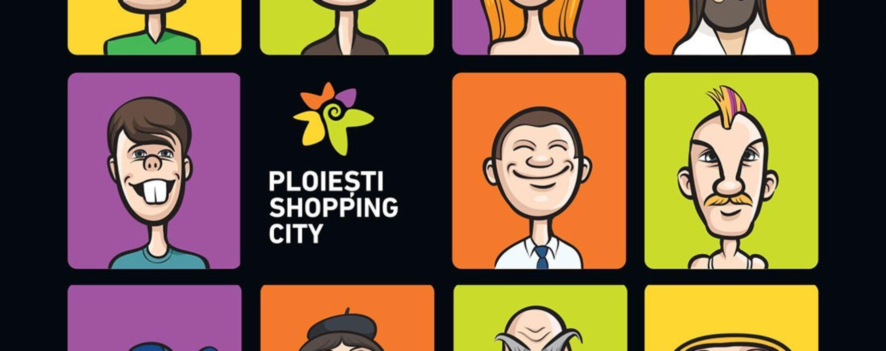 Ziua caricaturilor de 1 aprilie la Ploiești Shopping City