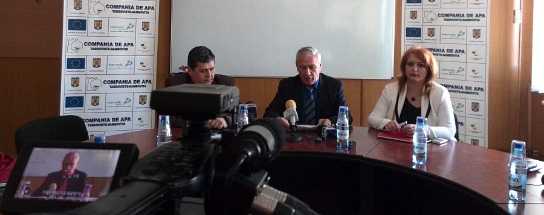 Atacuri nefondate la adresa Companiei de Apă Târgovişte-Dâmboviţa, susţine conducerea societăţii