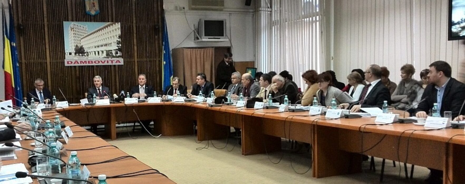Şedinţă comună CJ Dâmboviţa-Consiliul Raional Ştefan Vodă din Republica Moldova