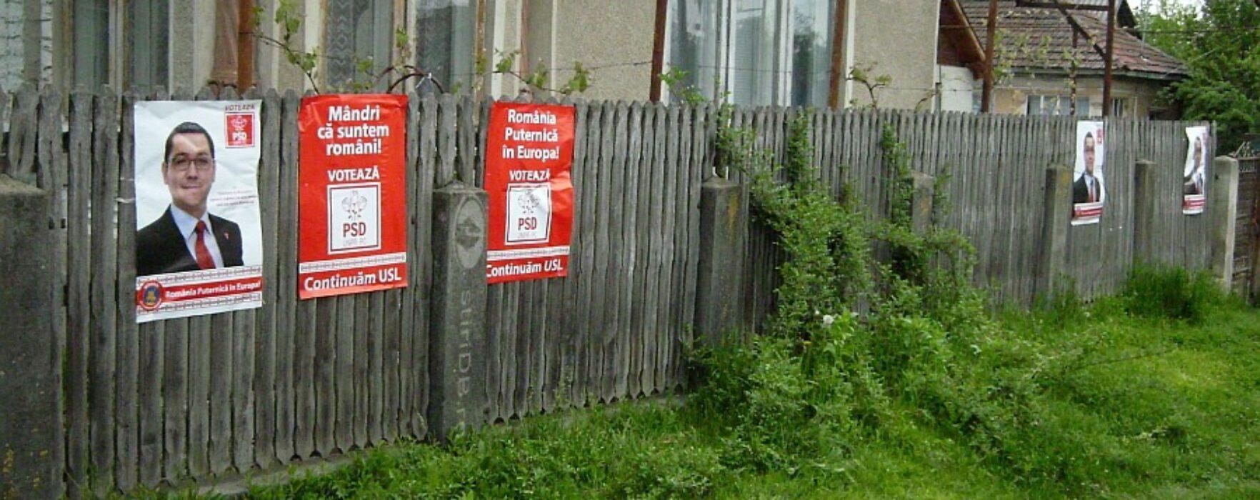 BEC a dispus înlăturarea afişelor electorale cu acronimul USL în Dâmboviţa