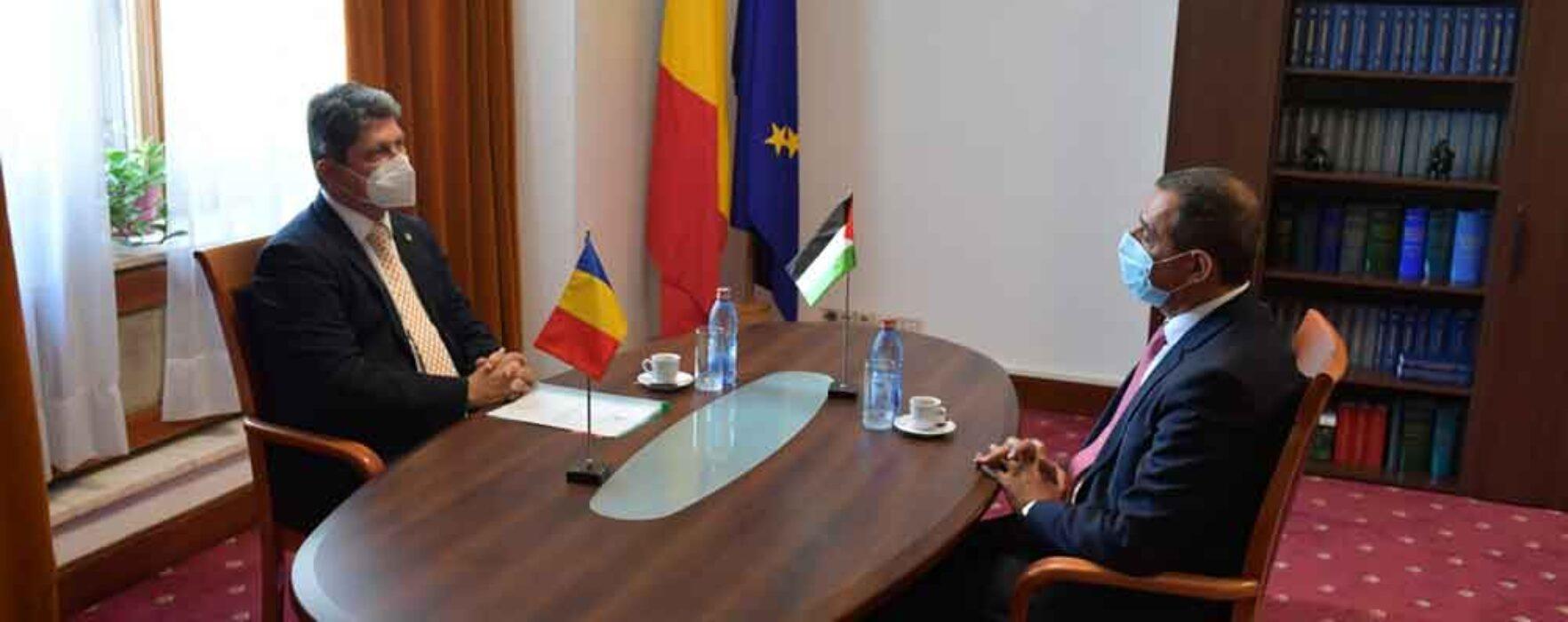 Senatorul Titus Corlățean, întrevedere cu ambasadorul Palestinei la București