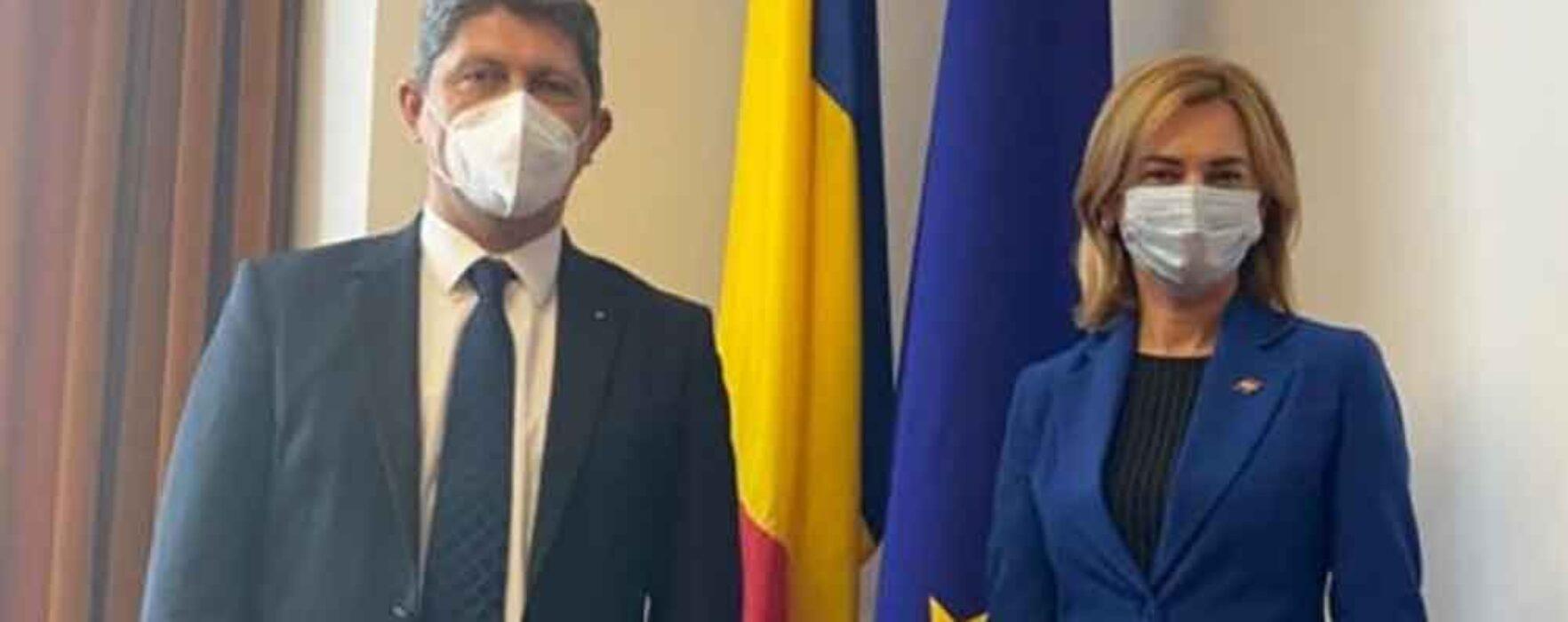 Întrevedere Corlățean – Doina Gherman, președintele Comisiei pentru politică externă din Parlamentul Republicii Moldova
