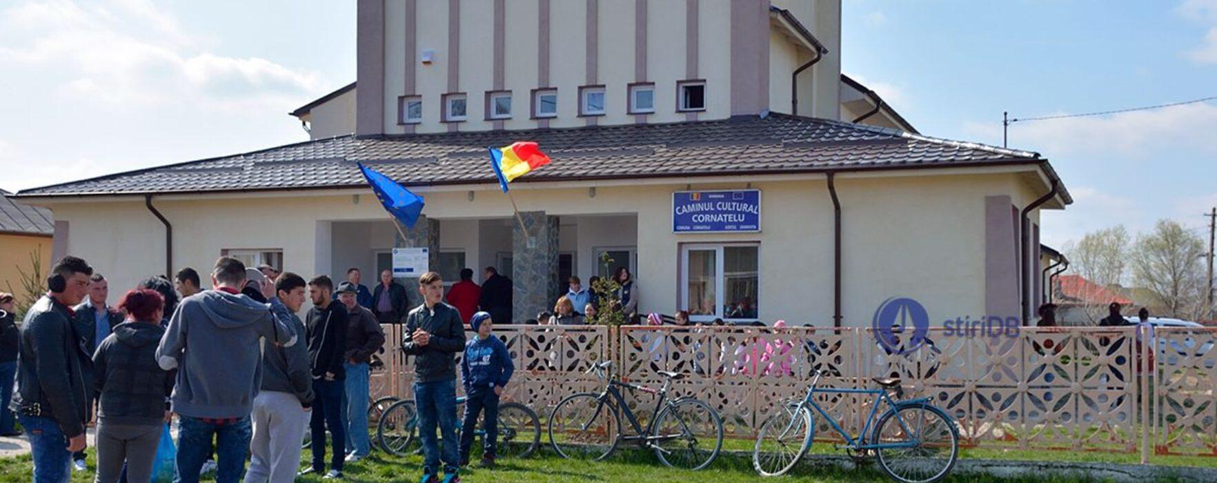 Dâmboviţa: Cămin cultural, reabilitat cu bani europeni la Cornăţelu