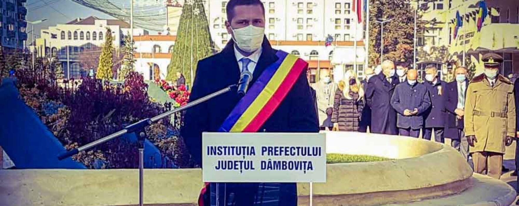 Corneliu Ştefan, preşedinte CJ Dâmboviţa: 1 Decembrie este ziua fiecăruia dintre noi!