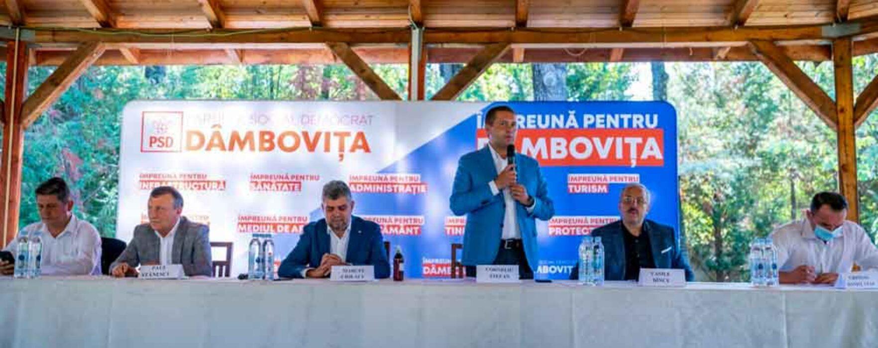 Ciolacu, la Târgovişte: Orban a folosit banii din fondul de rezervă ca să cumpere primari şi parlamentari