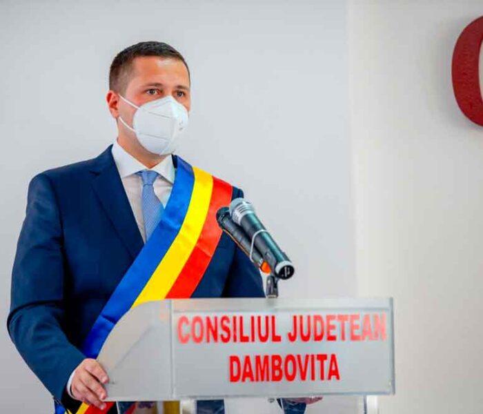 Corneliu Ştefan, învestit preşedinte CJ Dâmboviţa: Biroul meu va fi judeţul Dâmboviţa