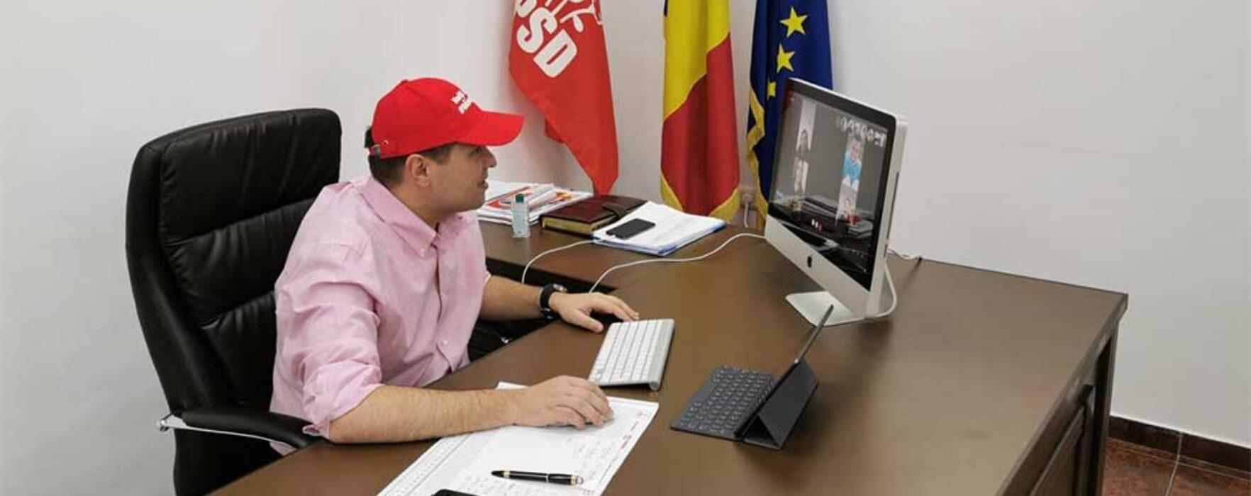 #Covid-19 Corneliu Ştefan, PSD Dâmboviţa: Întâlniri online cu colegii din teritoriu