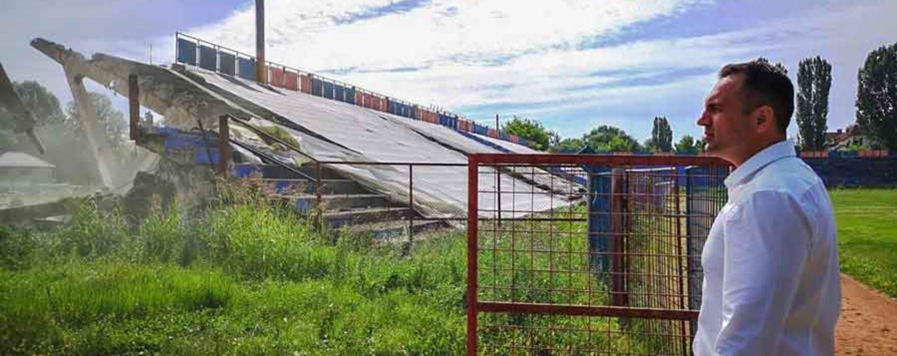 """Târgovişte: Stadionul """"Eugen Popescu"""" va fi reabilitat"""