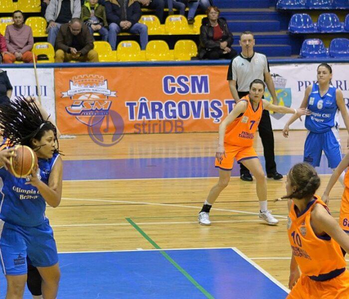 Baschet feminin: CSM Târgovişte, învinsă categoric de Olimpia CSU Brașov