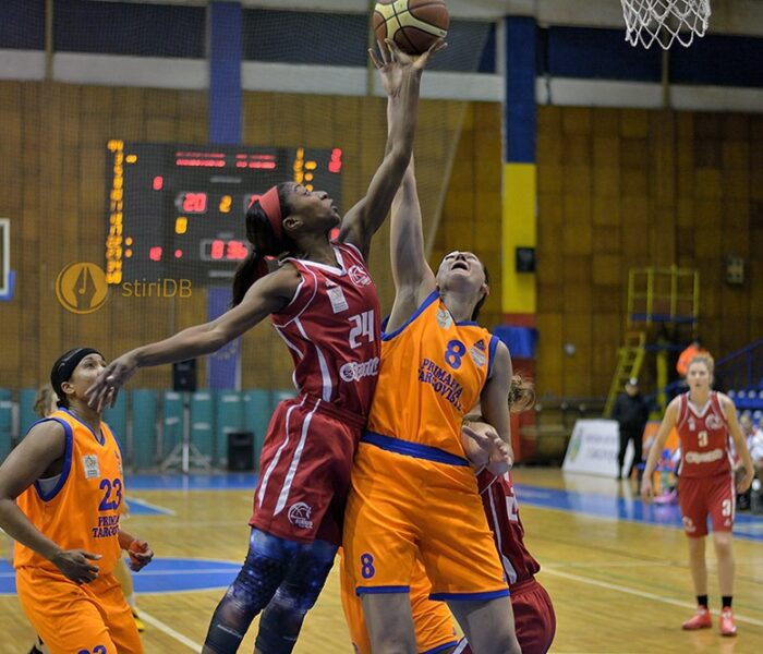Baschet feminin: CSM Târgoviște a câștigat greu partida cu BC Sirius Târgu Mureș, 78-68