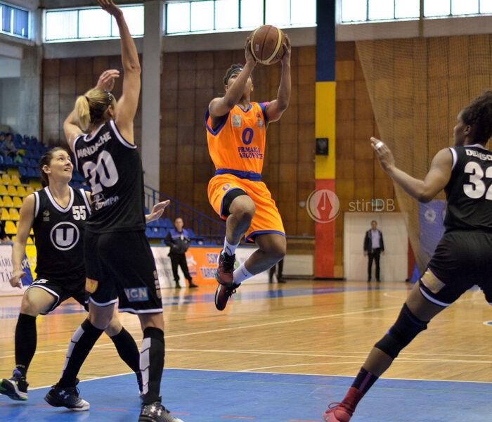 Baschet feminin:  CSM Târgovişte pierde și meciul doi al semifinalei cu U Cluj și va lupta pentru locurile 3-4
