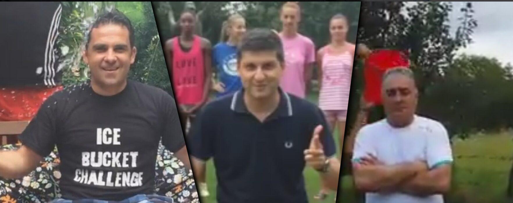 Provocarea duşului cu gheaţă, în Dâmboviţa (video)